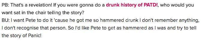 Пит Венц запишет панику! «Пьяная история» ... при одном условии