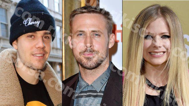 저스틴 비버 (Justin Bieber)는 에이브릴 라빈 (Avril Lavigne)과 라이언 고슬링 (Ryan Gosling)과 관련이 있으며 그의 반응은 귀중하다